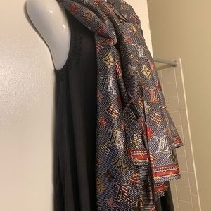Louis Vuitton Silk Scarf.